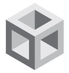3d square block vector image
