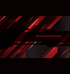 Abstract technology cyber circuit red black vector