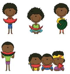 African-American boys vector image