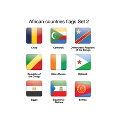 African countries flags set 2 vector image