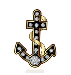 anchor vessel isolated symbol vector image