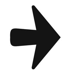arrow icon in black simple vector image