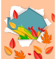 autumnal background ready for design vector image