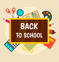 back to school concept background flat style vector image