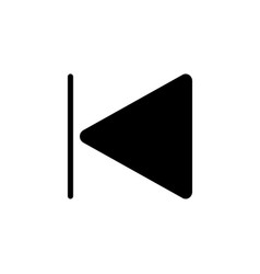 Backward track icon on white background simple vector