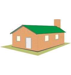 Brick house cottage vector