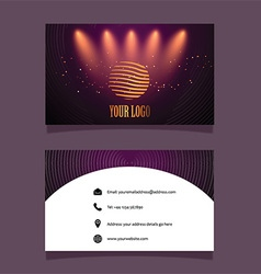 Business card mock up vector