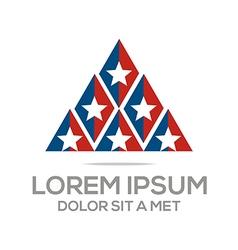 business creative star emblem logo design icon vector image