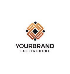 Business people community logo design concept vector