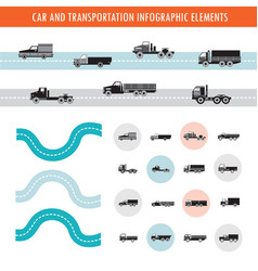 car and transportation infographic elements and vector image