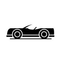 Car roadster model transport vehicle silhouette vector