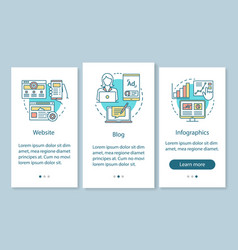 Channels for seo onboarding mobile app page vector