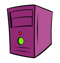 Computer system unit icon cartoon vector