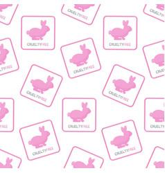 cruelty free seamless pattern vector image
