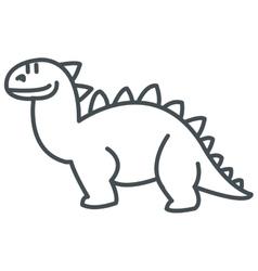 cute dinosaur icon vector image