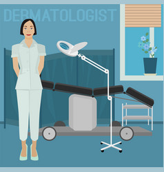 Dermatologist office image vector