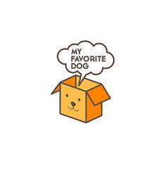 Dog box logo bubble vector