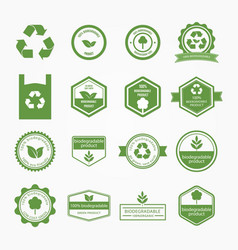 ecologic and nature sales tag vector image