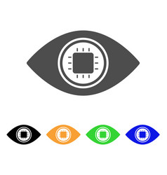 Electronic eye lens flat icon vector