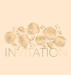 elegant luxury floral design element vector image