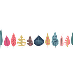 fall leaves seamless repeating border vector image