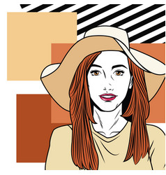 fashion woman pop art cartoon vector image