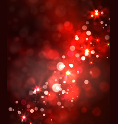 festive light background with bokeh and stars vector image