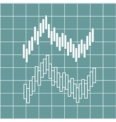 financial graph chart vector image
