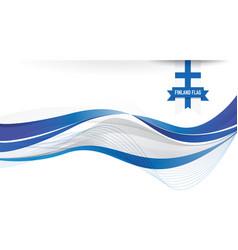 Finland flag background vector