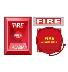 Fire Alarm Safety Set vector image