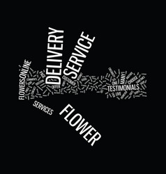 Flower delivery service text background word vector