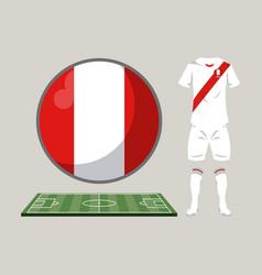 football peru sport wear vector image