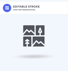 Gallery icon filled flat sign solid vector