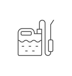 garden sprayer line outline icon vector image