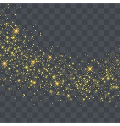 Gold glitter wave abstract Gold star dust trail vector