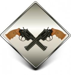 Guns sign vector