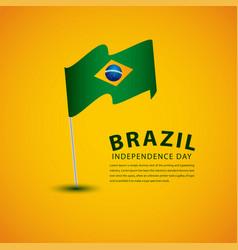Happy brazil independence day celebration vector