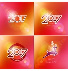 Happy New Year design elements Merry Christmas vector