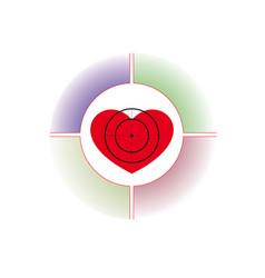 Heart under a sight vector
