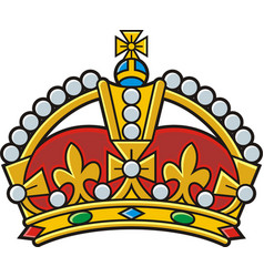 heraldic gold crown vector image