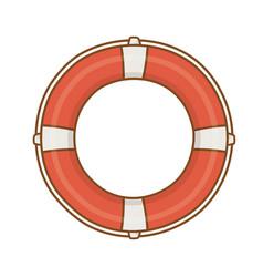 Lifebuoy cartoon isolated vector