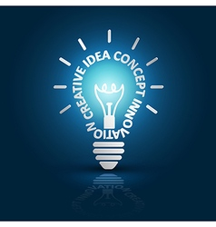 Light bulb ideas2 vector