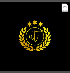 Luxury at initial logo or symbol business company vector
