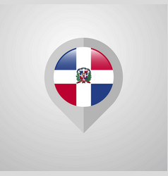 Map navigation pointer with dominican republic vector