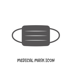 medical mask icon simple flat style vector image