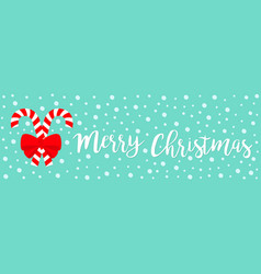 merry christmas candy cane set two cute vector image