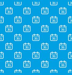 modern calendar pattern seamless blue vector image