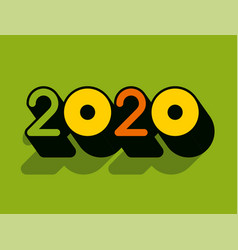 Modern professional 2020 with sushi vector