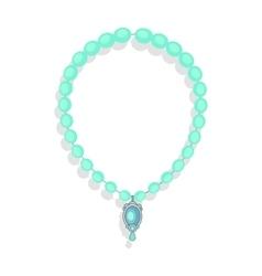 Necklace precious stones in flat design vector