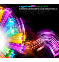 Neon streaks background vector